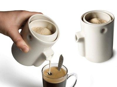 distributeur de lait et sucre : Newton MilkSugar
