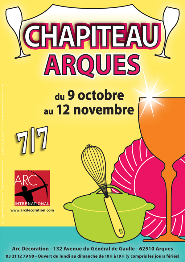 Vente sous Chapiteau Arc International du 9 octobre 2012 au 12 novembre 2012